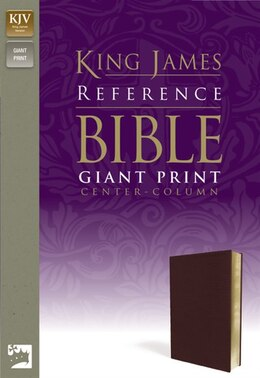 Book Kjv, Reference Bible, Giant Print, Imitation Leather, Burgundy, Red Letter Edition by Zondervan