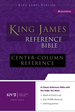 Book KJV, Reference Bible, Imitation Leather, Black, Red Letter Edition by Zondervan