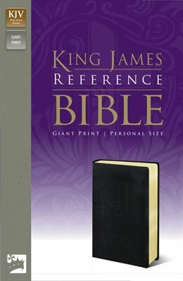 Book Kjv, Reference Bible, Giant Print, Personal Size, Imitation Leather, Black, Red Letter Edition by Zondervan