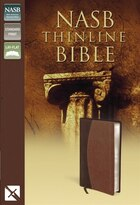 Nasb, Thinline Bible, Imitation Leather, Brown, Red Letter Edition