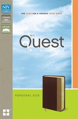 Book NIV, Quest Study Bible, Personal Size, Imitation Leather, Burgundy/Tan: The Question and Answer… by Zondervan
