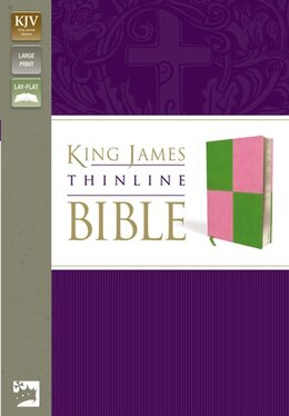 Book Kjv, Thinline Bible, Large Print, Imitation Leather, Green/pink, Red Letter Edition by Zondervan