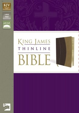 Book Kjv, Thinline Bible, Large Print, Imitation Leather, Burgundy/tan, Red Letter Edition by Zondervan