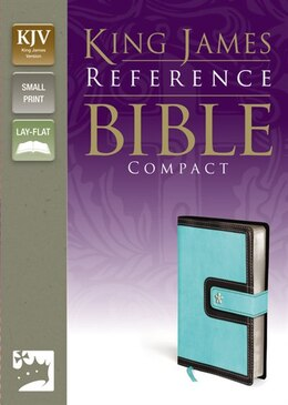 Book Kjv, Reference Bible, Compact, Imitation Leather, Blue/brown, Red Letter Edition by Zondervan