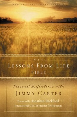 Book NIV, Lessons from Life Bible, Hardcover: Personal Reflections with Jimmy Carter by Jimmy Carter