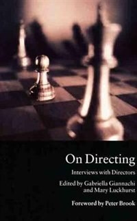 Book On Directing: Interviews With Directors by Gabriella Giannachi