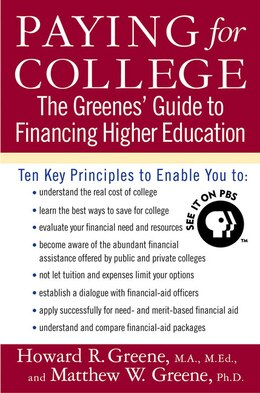 Book Paying For College: The Greenes' Guide to Financing Higher Education by Howard R. Greene