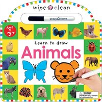 Wipe Clean Animals: Learn To Draw Activity Book. 26 Wipe-clean Pages