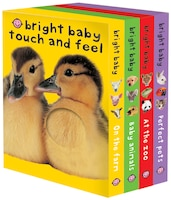Bright Baby Touch & Feel Boxed Set: On the Farm, Baby Animals, At the Zoo and Perfect Pets