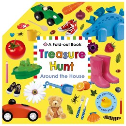 Book Treasure Hunt: Around the House: A Fold-out Book by Roger Priddy