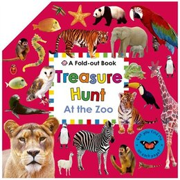 Book Treasure Hunt: At the Zoo: A Fold-out Book by Roger Priddy