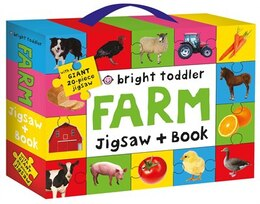 Book Bright Toddler: Farm Jigsaw And Book Set by Roger Priddy