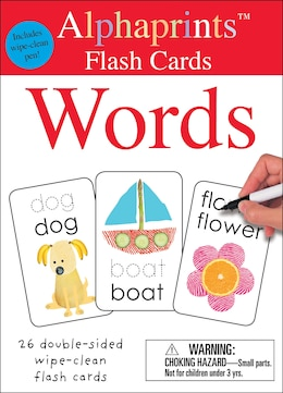 Book Alphaprints: Wipe Clean Flash Cards Words by Roger Priddy