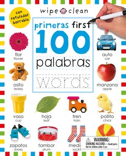 Book Wipe Clean: First 100 Words Bilingual (spanish/english) by Roger Priddy