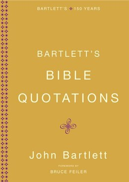 Book Bartlett's Bible Quotations by John Bartlett