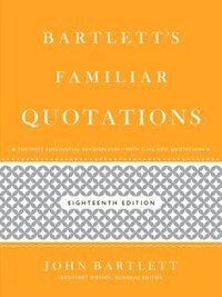 Bartlett's Familiar Quotations