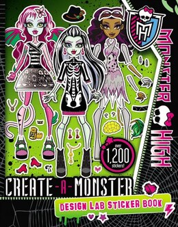 Book Monster High: Create-a-monster Design Lab Sticker Book by Kirsten Mayer