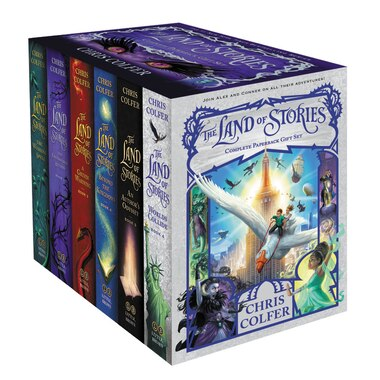 The Land Of Stories Complete Paperback Gift Set by Chris Colfer