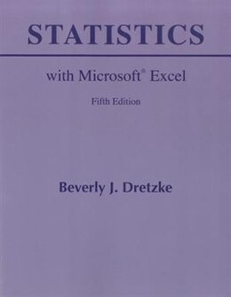 Book Statistics with Microsoft Excel by Beverly Dretzke