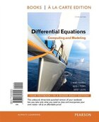 Differential Equations: Computing And Modeling, Book A La Carte Edition