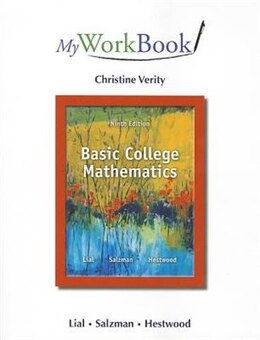 Book Myworkbook For Basic College Mathematics by Margaret L. Lial