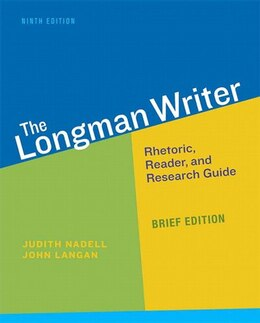 Book Longman Writer, The, Brief Edition by Judith Nadell