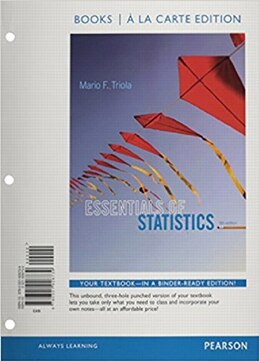 Book Essentials Of Statistics, Books A La Carte Edition by Mario F. Triola