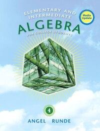 Elementary & Intermediate Algebra For College Students, Media Update