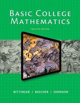 Book Basic College Mathematics by Marvin L. Bittinger