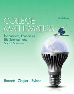 Book College Mathematics For Business, Economics, Life Sciences, And Social Sciences by Raymond A. Barnett