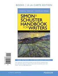 Simon & Schuster Handbook For Writers, Books A La Carte Edition