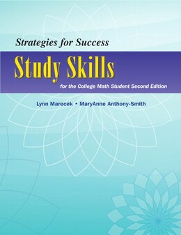 Book Strategies For Success: Study Skills For The College Math Student by Lynn Marecek