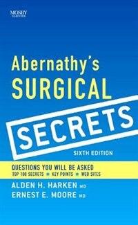 Book Abernathy's Surgical Secrets by Alden H. Harken