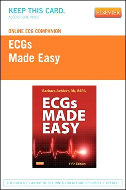 Book Online Ecg Companion For Ecgs Made Easy (access Code) by Barbara J Aehlert