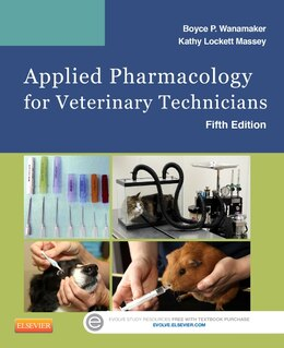 Book Applied Pharmacology For Veterinary Technicians by Boyce P. Wanamaker