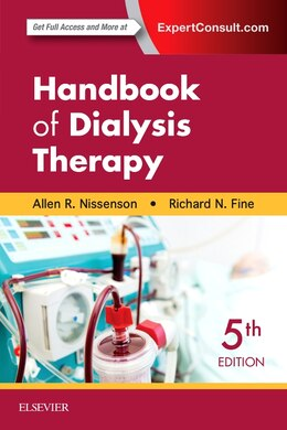 Book Handbook Of Dialysis Therapy by Allen R. Nissenson