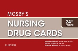 Book Mosby's Nursing Drug Cards by Kathleen Jo Gutierrez