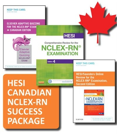 hesi canadian customer nclex rn success package test prep book by