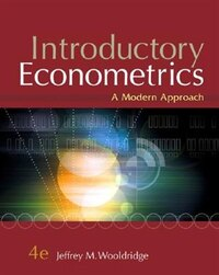 Introductory Econometrics: A Modern Approach (with Economic Applications, Data Sets, Student…
