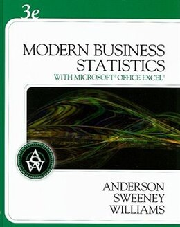 Book Modern Business Statistics (with Student Cd-rom) by David R. Anderson