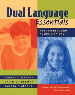 Book Dual Langauge Essentials For Teachers And Administrators by Yvonne S. Freeman