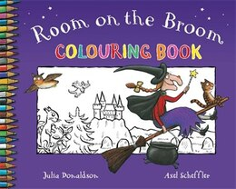 Book Room on the Broom Colouring Book by Julia Donaldson