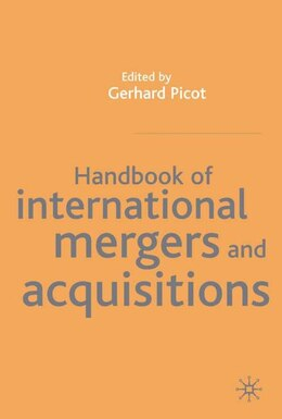 Book Handbook of International Mergers and Acquisitions by Gernard Picot
