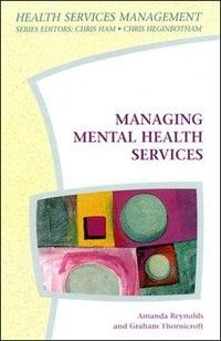 Book Managing Mental Health Services by Amanda Reynolds