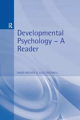 Book Developmental Psychology: A Reader by David Messer