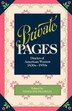 Private Pages: Diaries of American Women 1830s-1970s by Penny Franklin