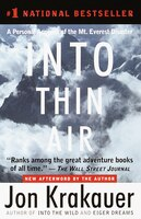 Book Into Thin Air: A Personal Account Of The Mt. Everest Disaster by Jon Krakauer