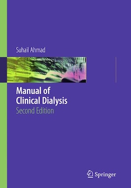 Book Manual of Clinical Dialysis by Suhail Ahmad