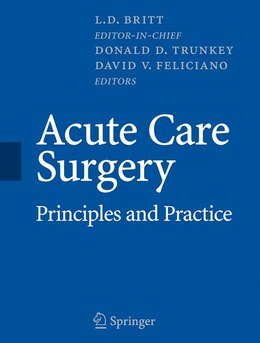 Book Acute Care Surgery: Principles and Practice by L.D. Britt