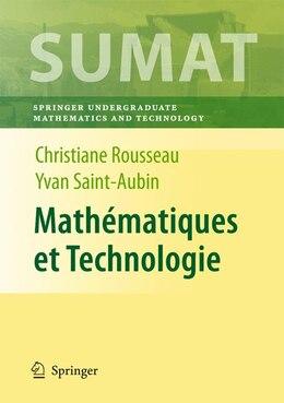 Book Mathématiques et Technologie by Christiane Rousseau